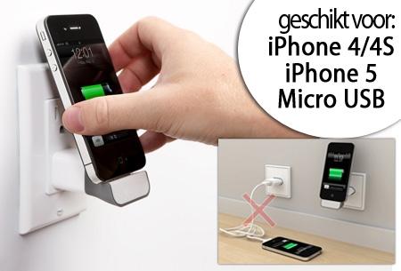Wall docking station voor je iPhone of smartphone t.w.v. €29,95 nu GRATIS!