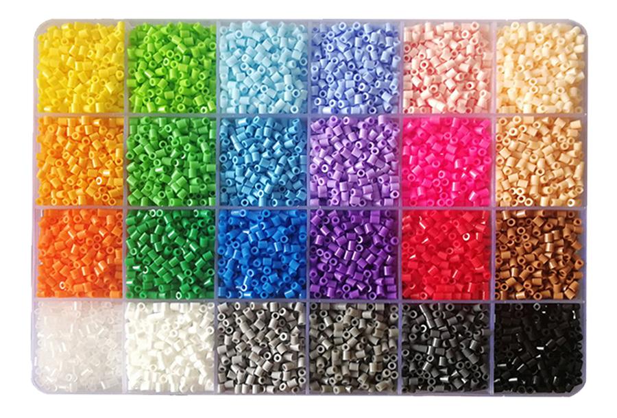 Strijkkralen en patronen Strijkkralen - 2,6 mm - 1 bak + 4 patronen
