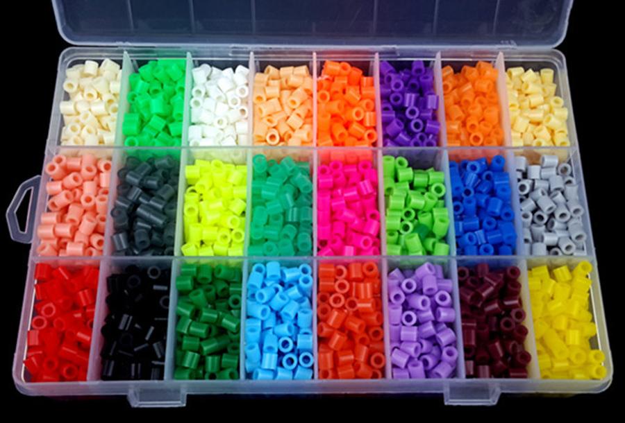 Strijkkralen en patronen Strijkkralen - 5 mm - 1 bak + 4 patronen