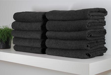 Handdoeken en badhanddoeken 100% katoen | Diverse sets met oplopende korting! Zwart