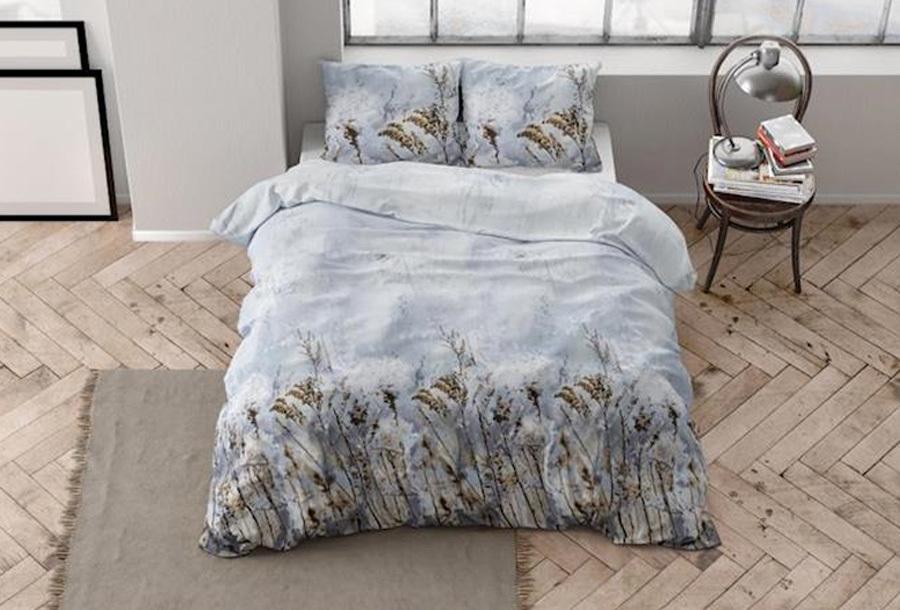 Flanellen dekbedovertrekken van Dreamhouse Maat 200 x 220 cm - Janine grey