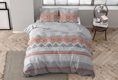 Flanellen dekbedovertrekken van Dreamhouse | Warme dekbedhoezen in 7 prints Olav grey