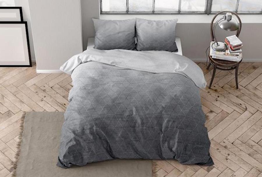 Flanellen dekbedovertrekken van Dreamhouse Maat 140 x 220 cm - Quinn anthracite