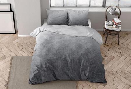 Flanellen dekbedovertrekken van Dreamhouse | Warme dekbedhoezen in 7 prints Quinn anthracite
