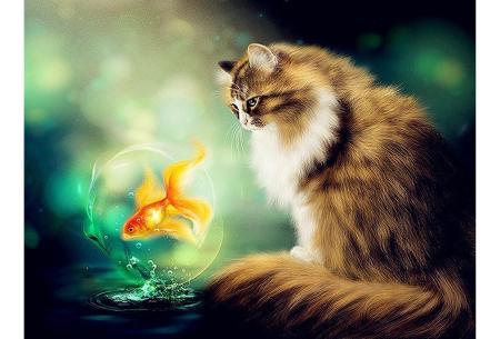 Diamond painting katten | Maak zelf de mooiste schilderijen  #13