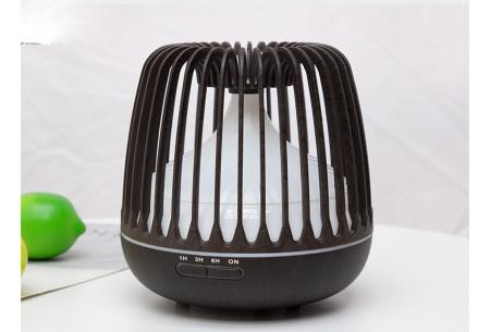 Luchtbevochtiger 500 ml | Aroma diffuser met ledlicht Donkerbruin