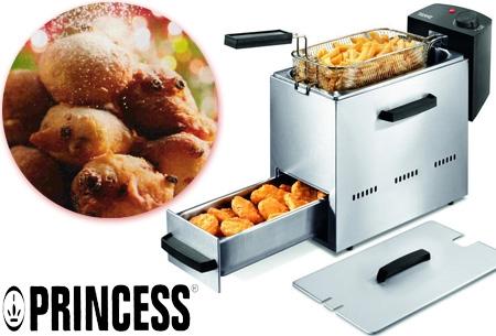 Princess friteuse 1,5 ltr met warmhoudlade t.w.v. €79,95 nu €34,95
