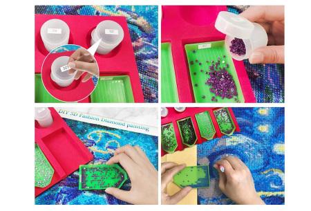 Diamond painting steentjes organizer | In 2 formaten