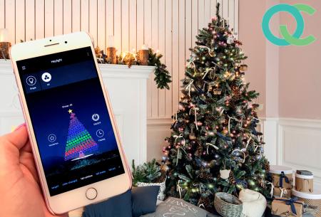 FlinQ slimme led-kerstverlichting - 19 meter lang | Bedienbaar via app of bijgeleverde controlebox | Snelle levering!