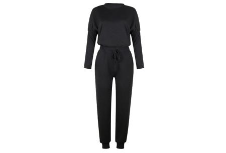 Basic dames huispak   Super zachte en luchtige loungewear - in 14 kleuren! Zwart
