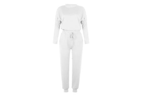 Basic dames huispak   Super zachte en luchtige loungewear - in 14 kleuren! Wit
