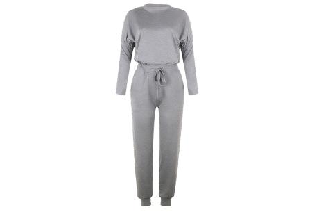 Basic dames huispak   Super zachte en luchtige loungewear - in 14 kleuren! lichtgrijs