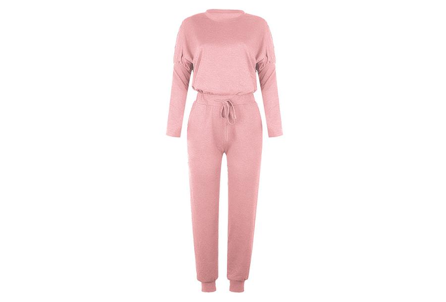 Basic dames pyjama - Maat S - Lichtroze