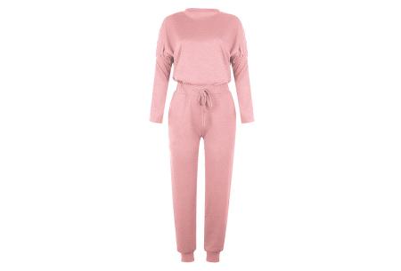 Basic dames huispak   Super zachte en luchtige loungewear - in 14 kleuren! lichtroze