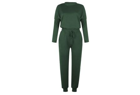 Basic dames huispak   Super zachte en luchtige loungewear - in 14 kleuren! donkergroen