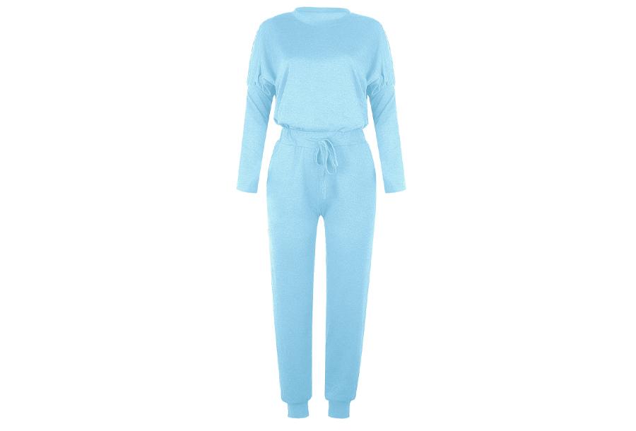 Basic dames pyjama - Maat XL - Lichtblauw