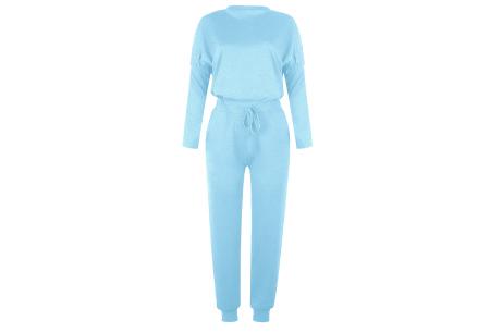 Basic dames huispak   Super zachte en luchtige loungewear - in 14 kleuren! lichtblauw