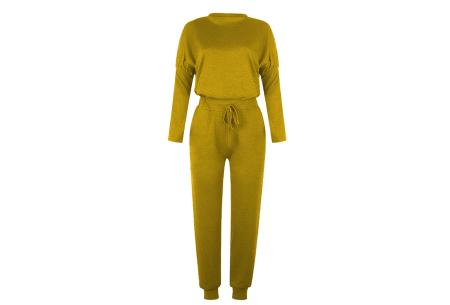 Basic dames huispak   Super zachte en luchtige loungewear - in 14 kleuren! okergeel