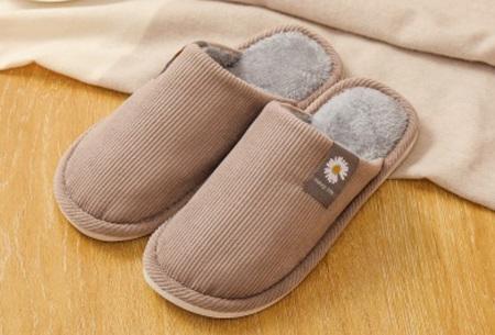 Superzachte en warme pantoffels | Dames en heren sloffen Coffee