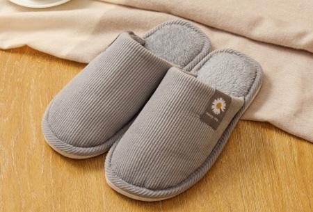 Superzachte en warme pantoffels | Dames en heren sloffen Grijs