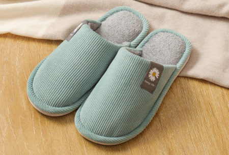 Superzachte en warme pantoffels | Dames en heren sloffen Aqua