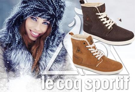 Le Coq Sportif dames schoenen met imitatie bont in maat 36 - 41 t.w.v. €79,99 nu €39,95