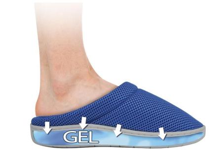 Sloffen met gel zool | Biedt steun en verlichting aan pijnlijke en vermoeide voeten