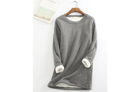 Fleece tuniek | Super warme en zachte musthave in 10 kleuren!  Donkergrijs