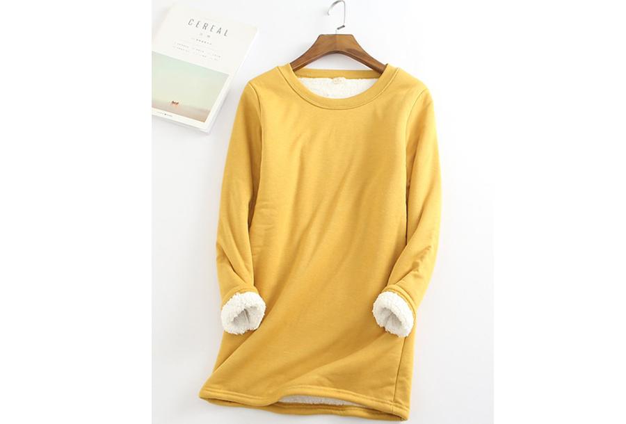 Fleece tuniek - Maat XL - Geel