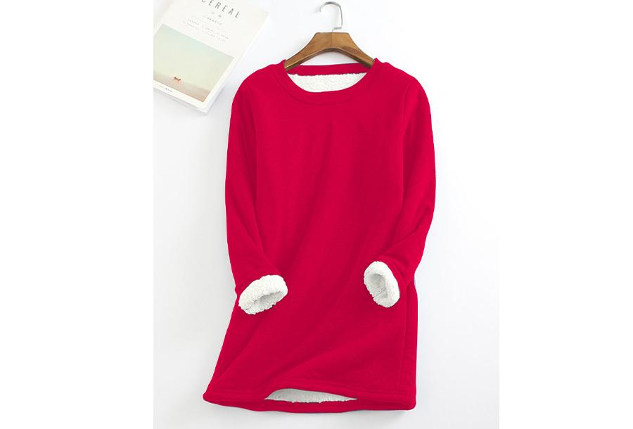 Fleece tuniek - Maat XS - Rood