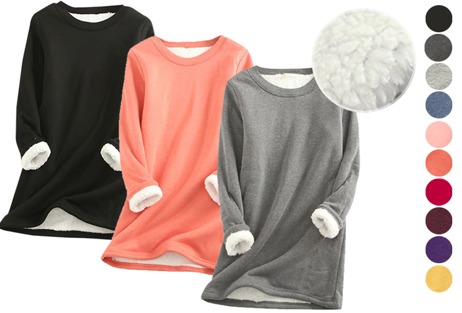 Fleece dames tuniek in de aanbieding!