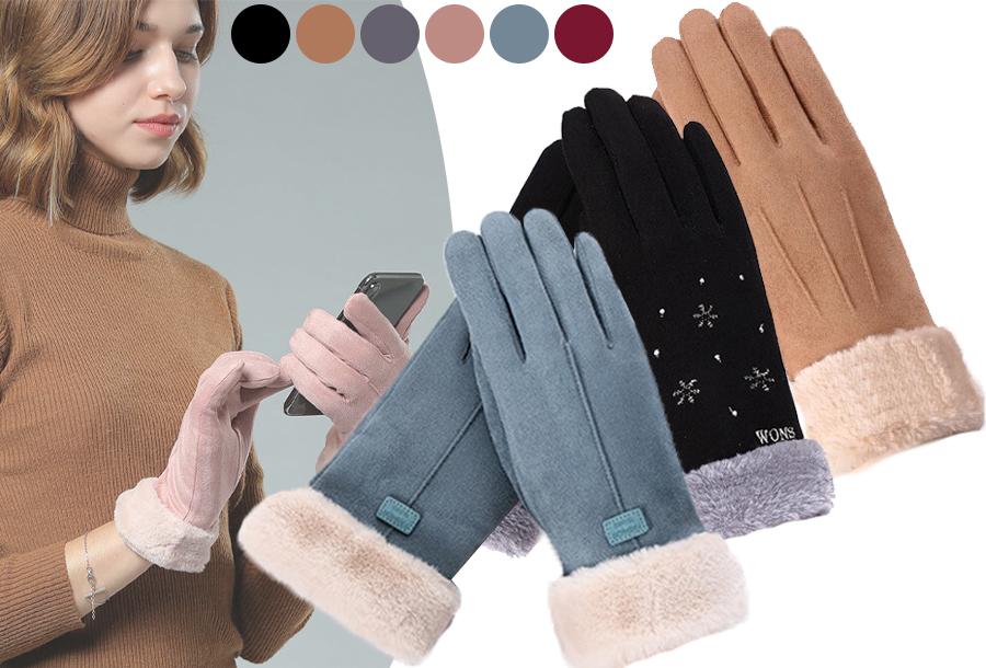 Warme handschoenen dames