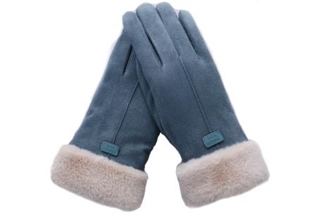 Warme handschoenen | In diverse stijlvolle modellen en kleuren 1 streep - blauw