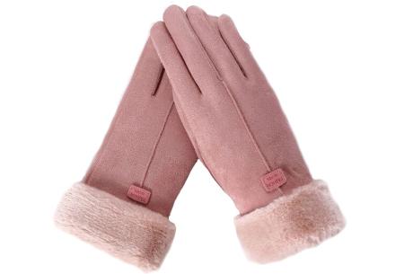 Warme handschoenen | In diverse stijlvolle modellen en kleuren 1 streep - roze