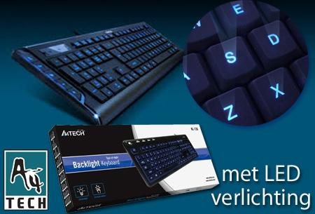 USB Toetsenbord van A4Tech met LED verlichting t.w.v. €34,99 nu €19,95!
