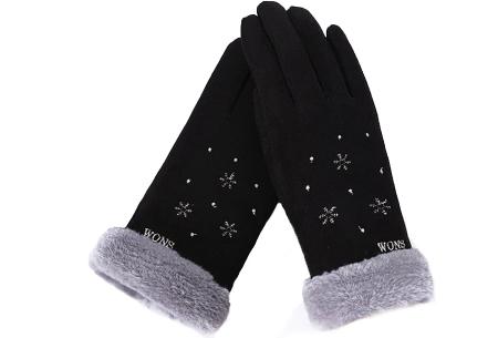 Warme handschoenen | In diverse stijlvolle modellen en kleuren Sneeuw - zwart