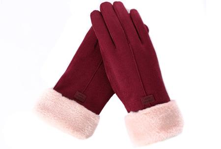 Warme handschoenen | In diverse stijlvolle modellen en kleuren 1 streep - rood
