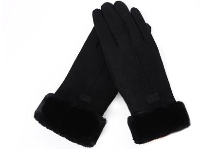 Warme handschoenen | In diverse stijlvolle modellen en kleuren 1 streep - zwart