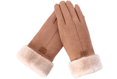 Warme handschoenen | In diverse stijlvolle modellen en kleuren 1 streep - bruin