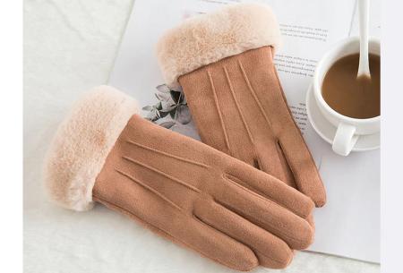 Warme handschoenen | In diverse stijlvolle modellen en kleuren 3 strepen - bruin