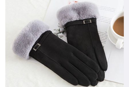 Warme handschoenen | In diverse stijlvolle modellen en kleuren Riempje - zwart