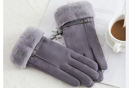 Warme handschoenen | In diverse stijlvolle modellen en kleuren Riempje - grijs