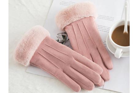 Warme handschoenen | In diverse stijlvolle modellen en kleuren 3 strepen - roze
