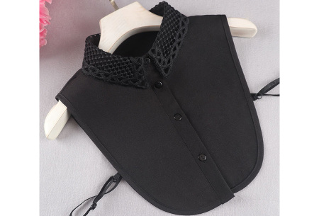 Kanten blouse kraagjes | Losse kraagjes met kanten rand - in 17 uitvoeringen #C