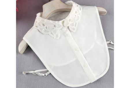Kanten blouse kraagjes | Losse kraagjes met kanten rand - in 17 uitvoeringen #J