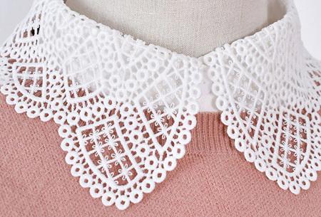 Kanten blouse kraagjes | Losse kraagjes met kanten rand - in 17 uitvoeringen