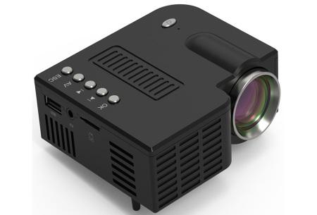 Mini beamer | Kleine projector voor een thuisbioscoop Zwart