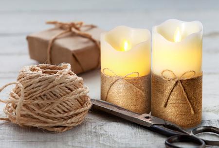 FlinQ led-kaarsen | Set van 3 sfeervolle kaarsen op batterij