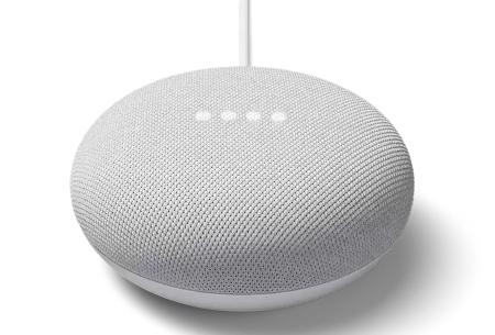 Google Home Mini   Bedien talloze apparaten met deze slimme speaker!  Lichtgrijs
