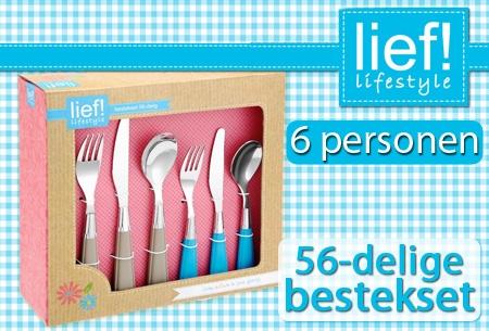 Lief! Lifestyle 56-delige kleurig bestekset t.w.v. €99 nu voor ...